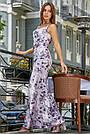 Женское нарядное летнее платье, с цветочным принтом, праздничное, молодёжное, вечернее, элегантное, макси, фото 3