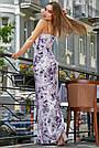Женское нарядное летнее платье, с цветочным принтом, праздничное, молодёжное, вечернее, элегантное, макси, фото 4