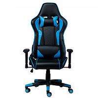 Геймерское (игровое) компьютерное кресло Zeus Race синее