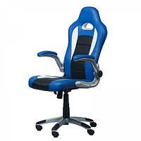 Геймерское (игровое) компьютерное кресло Zeus Forsage blue синее
