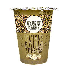 Каша STREET KASHA Гречневая с грибами 50г стакан, 30шт/ящ