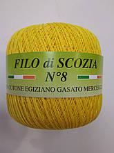 Пряжа Фило ди скозия №8 желтый 1167