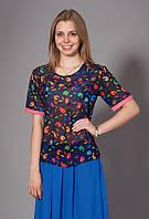 Женская шифоновая блуза с принтом. Код модели Л-33-32-15.