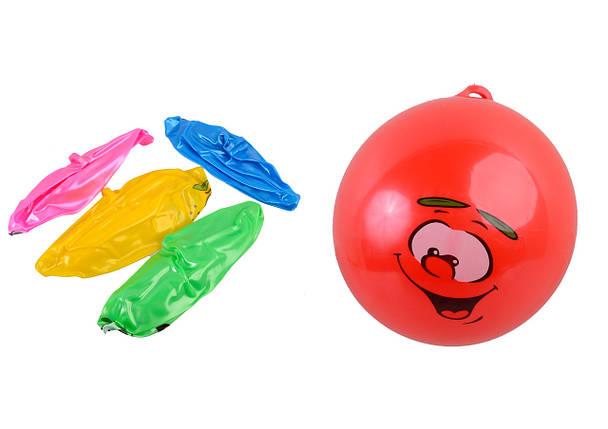 Мяч резиновый, 9 видов, 5 цветов, B190403, фото 2