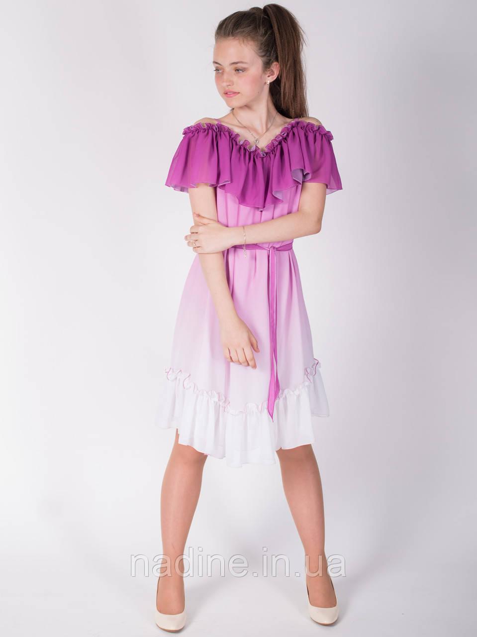 Шифоновое платье омбре Chic Crocus Eirena  Nadine (117-58)  на рост 158 цвет Лиловый
