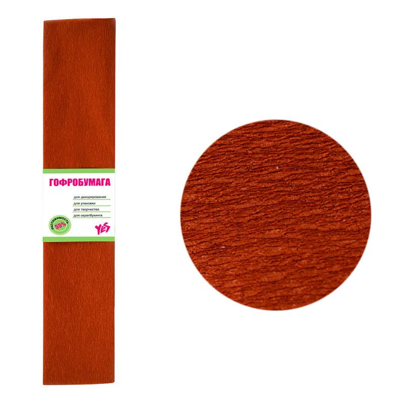 Бумага гофрированная, коричневого цвета 55%, 701524