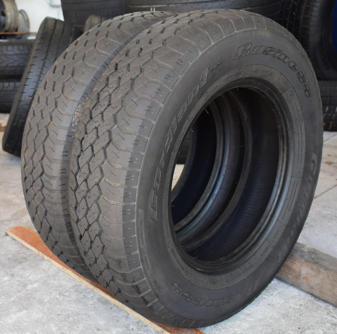 Шины б/у 215/75 R16С Cordiant Business, ЛЕТО, пара, 6-7 мм
