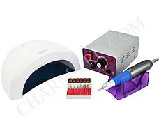 Набор для маникюра и педикюра с фрезером Lina MM25000 и Led лампой Sun One