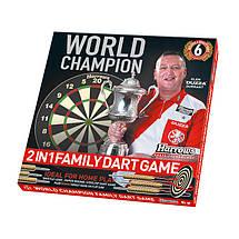 Двухсторонняя дартс мишень Harrows World Champion Англия + 3 дротика, фото 2