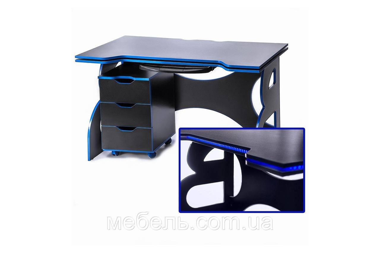 Компьютерные столы стол с мобильной тумбой Barsky Game blue