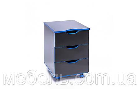 Стол с мобильной тумбой Barsky Game blue, фото 2