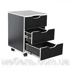 Офисныйстол Barsky HG-06/CUP-06 Game White, стол с мобильной тумбой, фото 2