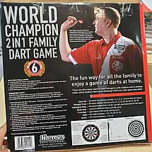 Двухсторонняя дартс мишень Harrows World Champion Англия + 3 дротика, фото 3
