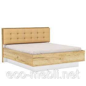Двоспальне ліжко Q 160x200 в спальню Camilla Дуб Крафт Золотий/ Білий Матовий Blonski