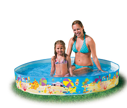 Бассейн каркасный семейный.Круглый бассейн каркасный.Детский каркасный бассейн Интекс.