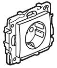 ETIKA Розетка 2К+З зі шторками, колір Антрацит