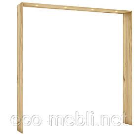 Накладка для шафи 4Д з підсвіткою U32 в спальню Camilla Дуб Крафт Золотий/ Білий Матовий Blonski