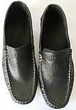 Levis мокасины! Натуральная кожа туфли удобнейшие туфли Levi Strauss Islands 90-01 левис черные, фото 4