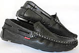 Levis мокасины! Натуральная кожа туфли удобнейшие туфли Levi Strauss Islands 90-01 левис черные, фото 6