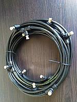 Комплект для туманообразования 10м. 10 форсунок 0.2мм. Черный., фото 1
