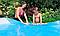 Бассейн каркасный семейный.Круглый бассейн каркасный.Детский каркасный бассейн Интекс., фото 3