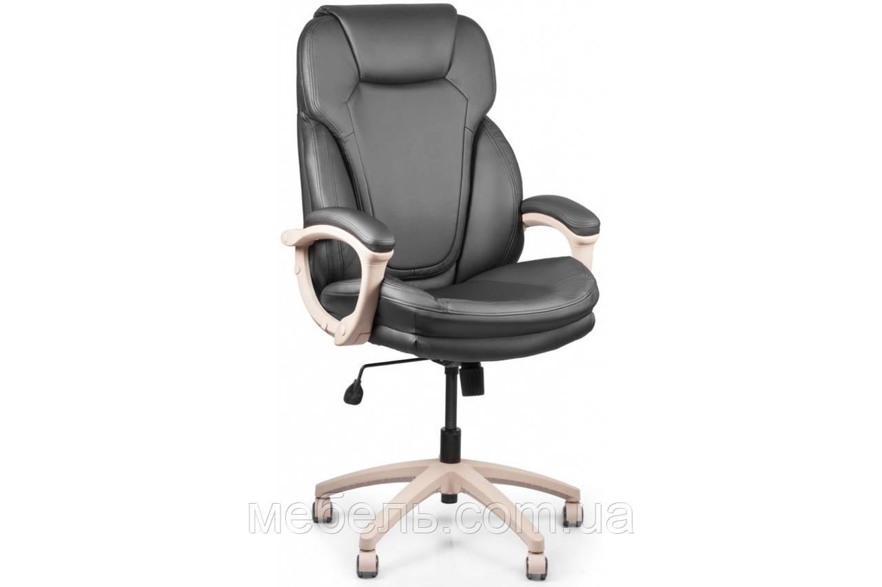 Кассовое кресло Barsky Soft Arm PU black SPUbg-01