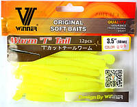 Силиконовая съедобная приманка Червь (Worm Tail), TBR-005, цвет 006