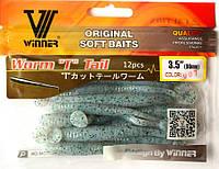 Силиконовая съедобная приманка Worm Tail (Червяк), TBR-005, цвет 007, 12шт.