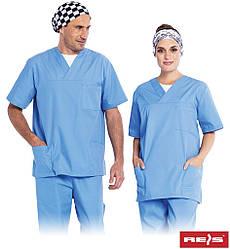 Блуза рабочая для докторов унисекс  REIS Польша (униформа)