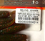 Їстівна силіконова принада Черв'як, TBR-005, колір 014, 12шт., фото 4