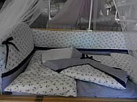 """Бортики, постель, карман в кроватку новорожденного-""""Морячек"""""""