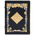 Біблія в шкіряній палітурці декорована позолотою і емалями, фото 4