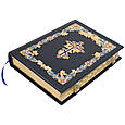 Библия в кожаном переплете декорирована позолотой и эмалями, фото 2