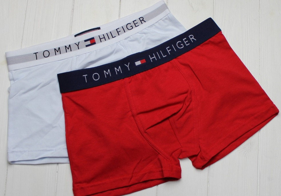 2 шт Мужских трусов-Боксерок Томми Халфигер боксеры, транки, мини-шорты, чоловічі боксери, бавовна