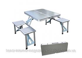 Складаний стіл і 4 стільця Picnic Folding Table 86x68 см, похідний набір стіл і сулья