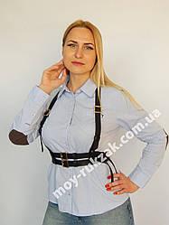 Женская портупея двойная широкая арт.930764