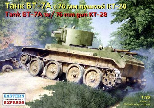 Сборная модель. БТ-7А Советский артиллерийский танк. 1/35 EASTERN EXPRESS 35114