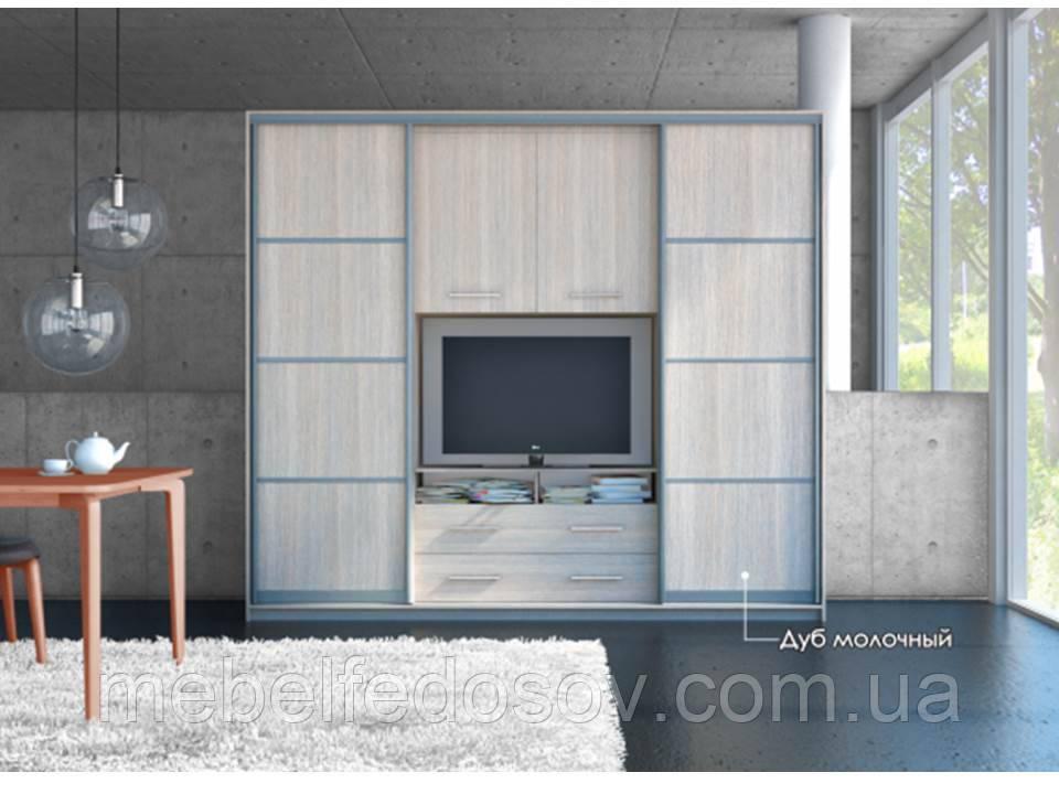 Гостиная-купе Наоми с нишей под ТВ (Мебель стар) 2100х550х2200