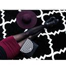 Ковер SKETCH 80x150 см - F343 белый черный Марокканский узор, фото 2