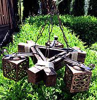 Светильник из натурального дерева, фото 1