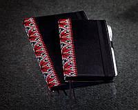 Блокнот с черной бумагой Черная Вышиванка мини,день учителя подарок