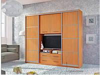 Гостиная-купе Наоми с нишей под ТВ (Мебель стар) 2400х550х2200