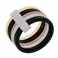 Женское кольцо из медицинской стали 316L c титановым напылением 101693