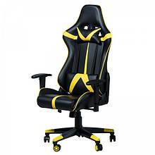 Геймерское (игровое) компьютерное кресло Zeus Drive yellow жёлтое
