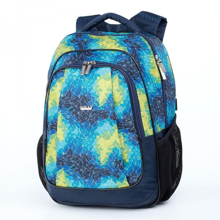 Шкільний синій рюкзак (ортопедичний) / Школьный синий портфель (ортопедический)