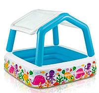 Детский надувной бассейн Intex со съемной крышей 57470, фото 1