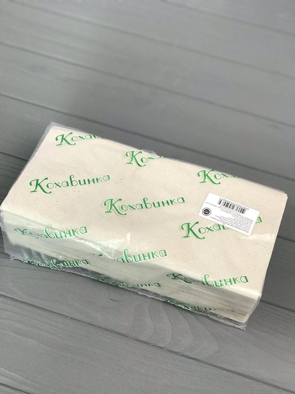 """Бумажные полотенца """"Кохавинка"""" серые"""