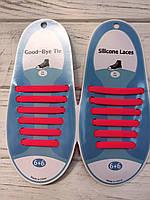 Силиконовые шнурки Розовые (6+6) 12 шт./комплект
