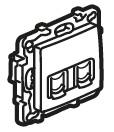 ETIKA Розетка 2хRJ45 Кат.5е UTP, колір Антрацит