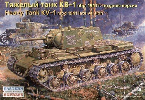 КВ-1 обр.1941 поздняя версия Тяжелый танк. 1/35 EASTERN EXPRESS 35119